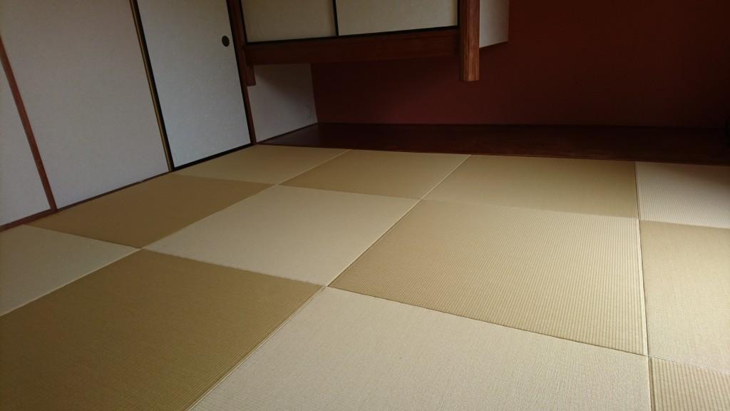琉球畳風 縁無し畳 和紙表